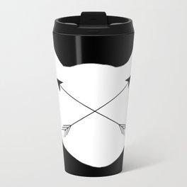 Inverted Cat Arrows Metal Travel Mug