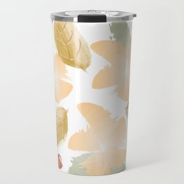 Autumn flowers - orange and ochre Travel Mug