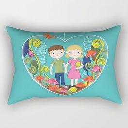 Terrarium For Two Rectangular Pillow
