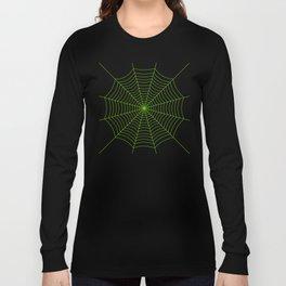 Neon green spider web Long Sleeve T-shirt