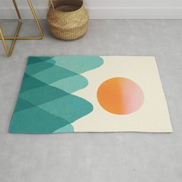 Abstraction_Mountains_SUNSET_Landscape_Minimalism_003 Rug