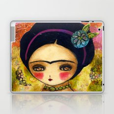 Frida In An Orange And Pink Dress Laptop & iPad Skin