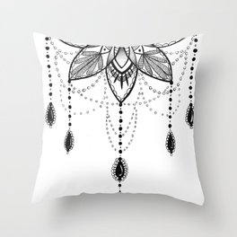 Flowing Mandala Chandelier Drawing Throw Pillow