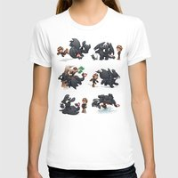 hiccup T-shirts featuring How Not to Train Your Dragon by Dooomcat