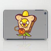 bread iPad Cases featuring Corny Bread by Artistic Dyslexia