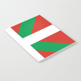 Basque Country: Euskaldun Flag Notebook