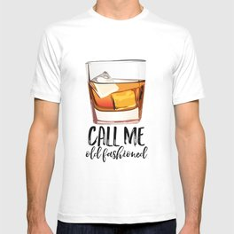 Alcohol Gift,Old Fashioned,Fashionista Party Decoration,Man cave,Gift For Husband,Call Me Old T-shirt