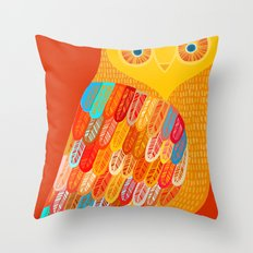 Terracotta Owl Throw Pillow