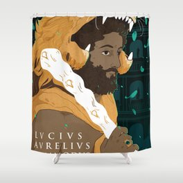 Commodus Shower Curtain