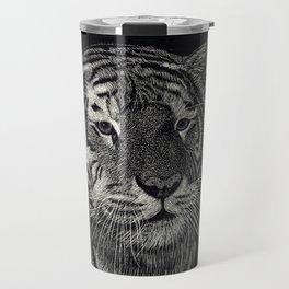 Scratchboard Tiger Travel Mug