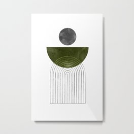 Green mid century modern Metal Print