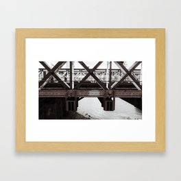 Hungerford Bridge Framed Art Print