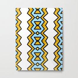 Yellow Hourglass Pattern Metal Print