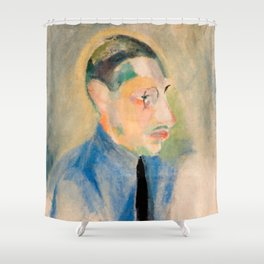 Igor Stravinsky (1882 – 1971) by Robert Delaunay in 1918 Shower Curtain