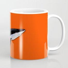 Bright Fluorescent Shark Attack Orange Neon Coffee Mug