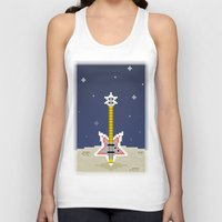 bass Tank Tops featuring Space Bass by Dean Bottino