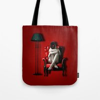 darth Tote Bags featuring Darth by EarlyHuman