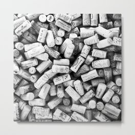 Something Nostalgic II Twist-off Wine Corks in Black And White #decor #society6 #buyart Metal Print