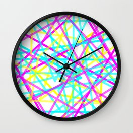 Abstract Lines CYM Wall Clock