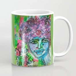LiVE YOUR LiFE in CoLOR! (green) Coffee Mug