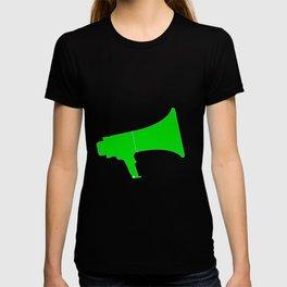 Green Isolated Megaphone T-shirt