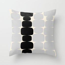 Abstraction_Balance_ROCKS_BLACK_WHITE_Minimalism_001 Throw Pillow