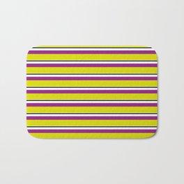 Yellow Stripes Bath Mat