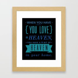Someone In Heaven-PINK Framed Art Print