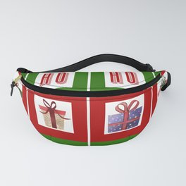 Celebrate the Noel - Merry Christmas with Santa and Presents Fanny Pack