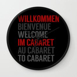 Wilkommen Im Cabaret Wall Clock