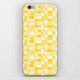 Mod Gingham - Yellow iPhone Skin