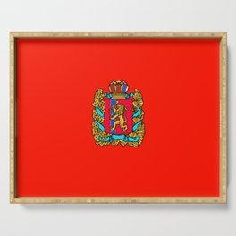 flag of Krasnoyarsk Serving Tray