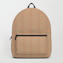 Delicate Peach Damask Pattern Backpack