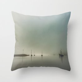 peace in the fog Throw Pillow