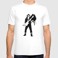 Ace of Spades White Mens Fitted Tee SMALL
