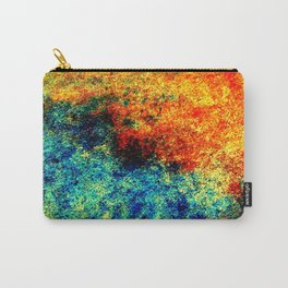 Abstract painting orange blue Carry-All Pouch