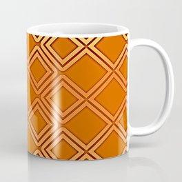 ELECTRIC ORANGE Geometric Diamonds #society6 #shapes Coffee Mug