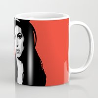 amy hamilton Mugs featuring Amy by Grace Teaney Art