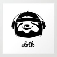 sloth Art Prints featuring Sloth by Max Las