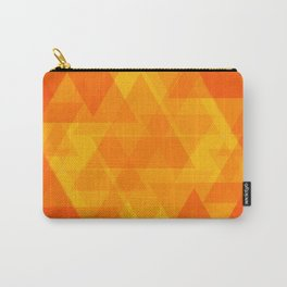 Bright orange and yellow triangles in the intersection and overlay. Carry-All Pouch