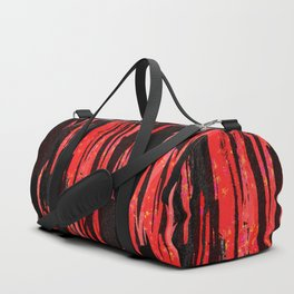 Unique Abstract Scarlet and Black Design Duffle Bag
