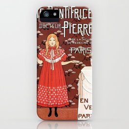 Dentifrice French belle epoque toothpaste ad iPhone Case