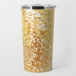 gush of dots in yellow Travel Mug