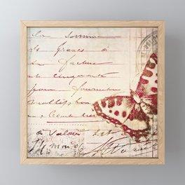 red winged Framed Mini Art Print