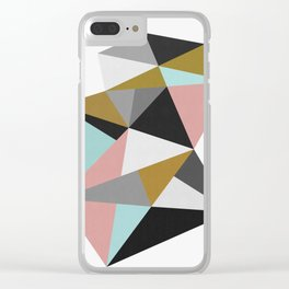 Geometric and vibrant I Clear iPhone Case