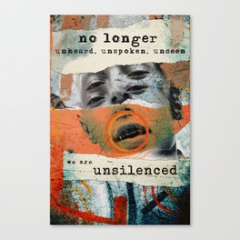 Unsilenced Canvas Print