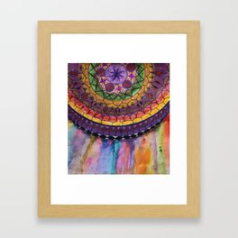 Bleeding Mandala Framed Art Print