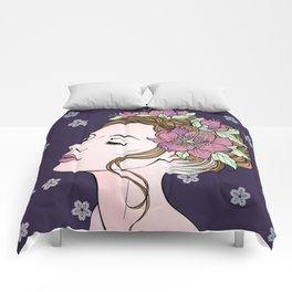 Flower Crown Girl Comforters