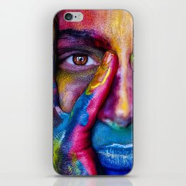 Colorful Face Paint Portrait iPhone Skin