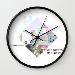 GLITCH NATURE #60: Oceanside Wall Clock